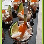recette Verrines de saumon à l'aneth et tomates