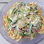 recette Tagliatelles aux poireaux crème allégée et mascarpone