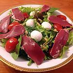 recette Salade de mesclun et canard fumé