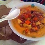 recette Morceaux de légumes a la viande haché