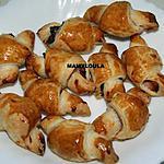 recette Mini croissant au jambon fumé
