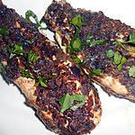 recette BLANCS DE POULET PANES (chips vitelotte)