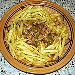escalope de dinde au piment vert et à la tomate
