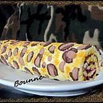 recette Le gâteau roulé léopard