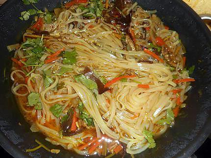 Recette de soupe chinoise au porc et nouilles de riz - Cuisiner des pates chinoises ...