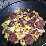 recette Poêlée de pommes de terre au boudin noir