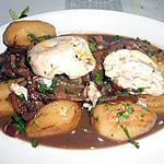 recette RAGOUT DE POMMES DE TERRE ET OEUFS MOLLETS (sauce civet de lièvre)