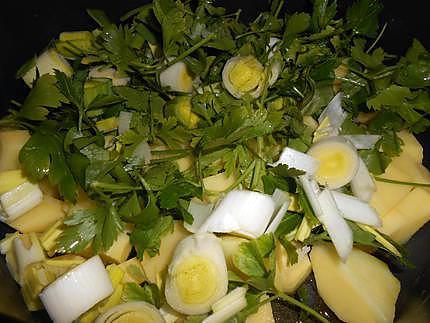 Soupe poireaux pommes de terre persil 430