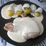 recette Cotes de porc sauce a l'ail