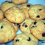 recette Cookies aux chocolat blanc et cranberries