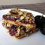 recette Carrés sablés à la cerise et au muesli