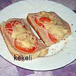 recette Baguette gratinée  et jambon de dinde