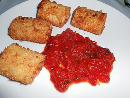 Paccheri farcis et frits 430