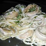 recette Spaghettis au boudin blanc