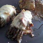 recette Fagots d'haricots verts en robe de jambon cru gratinée au four