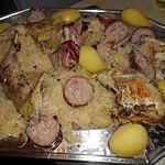 recette Faisan braisé en choucroute avec une morteau