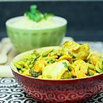 recette Tajine de lotte et crevettes aux fèves et aux petits pois