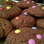 recette Cookies aux smarties Pour les 7ans de notre fille