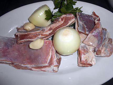 Poitrine d'agneau aux petits légumes 430
