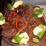 recette Jarret de boeuf au vin rouge et paprika