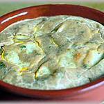 recette Clafoutis de courgettes jaunes au tahin et chèvre frais.