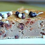 recette Fondant de crème de marron aux perles 3 chocolats.