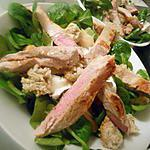 recette Salade de porc au chevre