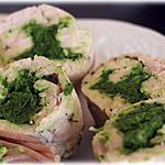 Roulés de poulet au pesto d'épinard ou comment mettre un homme dans sa pôche !