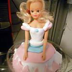 recette Gateau Barbie Princesse mug cake nutella pour les 7 ans de notre fille