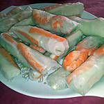recette Les rouleaux de printemp aux crevettes/surimi de Mamie