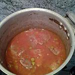 recette langue  de boeuf sauce tomate et cornichons