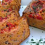 recette CAKE AU JAMBON TOMATE & POIVRON