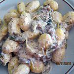 recette Gnocchis aux artichauts.