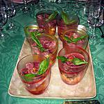 recette CONCASSEE DE TOMATES ET DE MELON