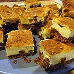 recette Carrés de cheesecake épicés aux raisins