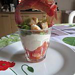 recette verrine tricolore tomates creme de ricotta