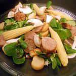 recette Salade a la saucisse de toulouse