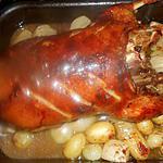 recette Canard roti aux navets et petits oignons