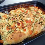 recette Ravioles au poulet curry gratinée