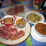 recette roti de boeuf a la cocotte   ,  cocottes aubergines grillées  farcies avec mijotée de  jackie   thouny