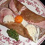 recette Galette jambon,oeuf,fromage de chevre