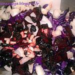 recette Salade de chou rouge, betterave, haricots verts et sa vinaigrette balsamique au gingembre