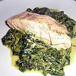 recette Pavés de saumon au curry sur lit d'épinards
