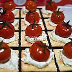 recette crackers au tartare et sa petite tomate ébouriffée