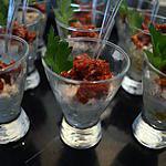 recette verrines de crabe aux tomates confites
