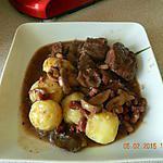 recette Boeuf aux champignons sauce vin rouge