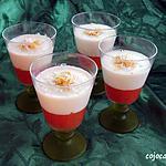 recette PANNA COTTA COCO PAMPLEMOUSSE SUR UN LIT DE GELEE DE PAMPLEMOUSSE