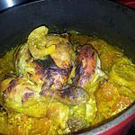 recette Poulet rôti au curry et à la créme citronée