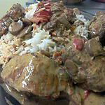 recette Sauté de Porc Curry/Poivron de Dine