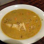recette Soupe de  poulet crémeuse au paprika (recycle du blanc de poulet cuit)